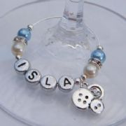 Buttons Personalised Wine Glass Charm - Elegance Style